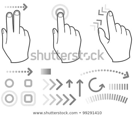 mutat · képernyő · fölött · szög · férfi · kéz - stock fotó © winner