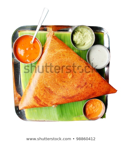 South indian breakfast dosa in golden brown color  Stock photo © mnsanthoshkumar