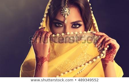美しい · インド · 小さな · ブルネット · 女性 · ダンス - ストックフォト © lunamarina