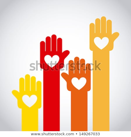 People hand like heart united seamless background. Stock photo © Hermione