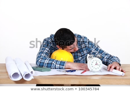 Draughtsman sleeping on the job Stock photo © photography33