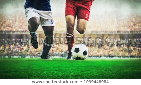 Stock foto: Fußballer · Schießen · Ball · Foto · Mädchen