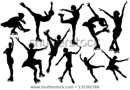 Figure skating silhouettes Stock photo © Kaludov