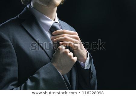 üzletember · öltöny · divat · igazgató · menedzser · fehér - stock fotó © cozyta