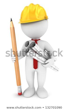 pequeno · casa · construção · ferramentas · escritório - foto stock © johanh