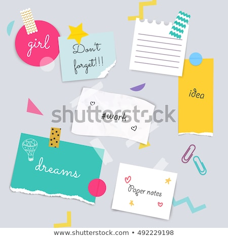 noticeboard notes Stock photo © photohome