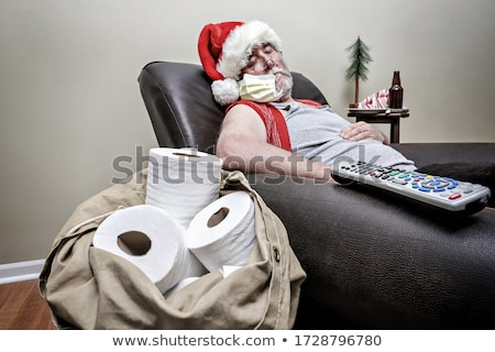 santa claus hat with beer stock photo © ozaiachin