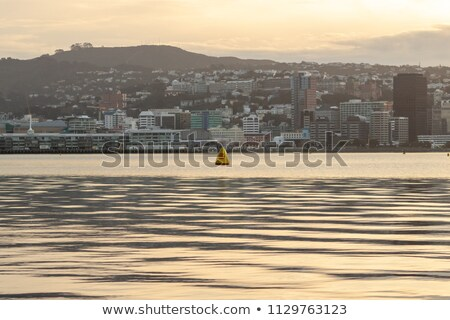 marina · coucher · du · soleil · pêche · bateaux - photo stock © 3523studio