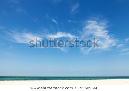 Kabarık beyaz bulutlar güzel mavi gökyüzü kıyı Stok fotoğraf © chrascina