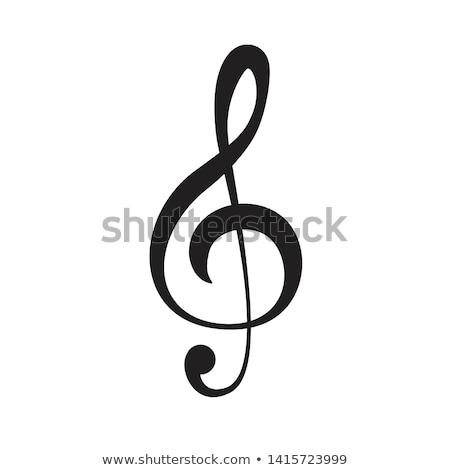 скрипки ключевые синий музыку радуга Сток-фото © ElaK
