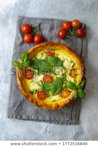 tomato quiche with basil Stock photo © M-studio