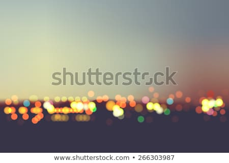 Stok fotoğraf: Bokeh City Vector