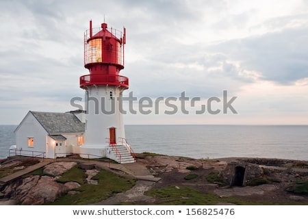灯台 · 劇的な · 表示 · ポルトガル · 日の出 - ストックフォト © phbcz