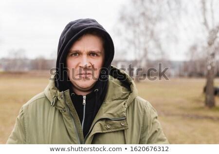 Evsiz adam tehlike sarhoş genç Stok fotoğraf © lisafx