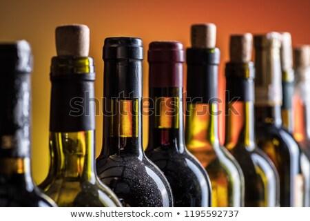 group of alcohol bottles background stock photo © fixer00