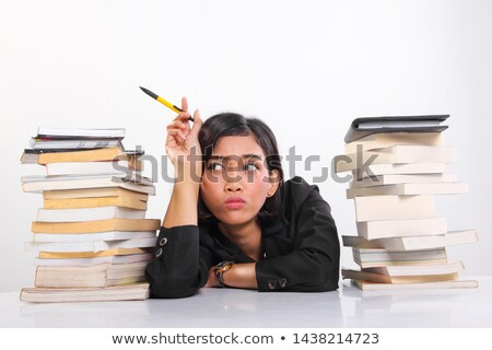 молодые · несчастный · студент · книгах · домашнее · задание - Сток-фото © photography33