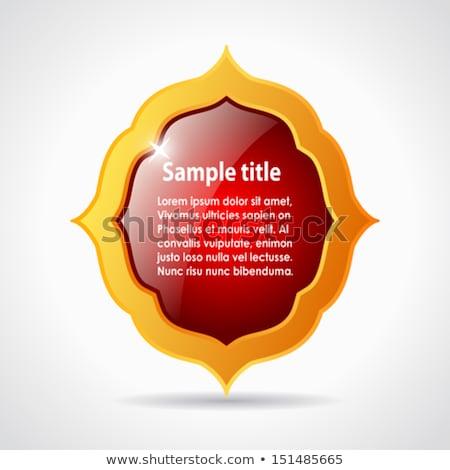 background with gold glass rhombus  as vector speech  Stock photo © yurkina