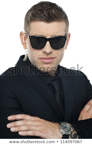 Close up picture of young smart bouncer stock photo © stockyimages