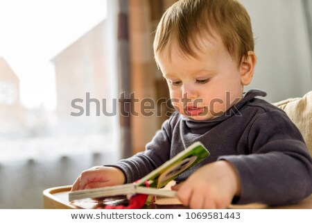 Boy sat reading a book. Stock photo © RTimages