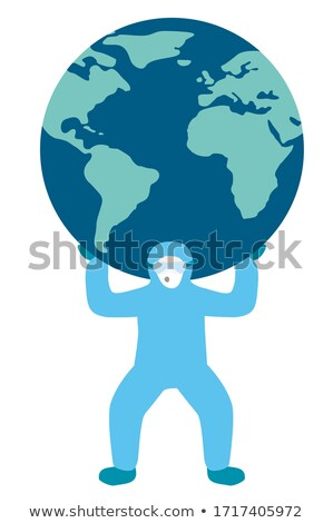 Worker with globe on his shoulder Stock photo © photography33
