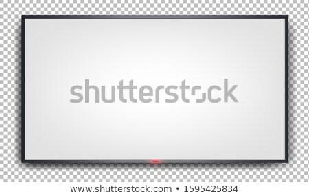 Two modern led tv panel isolated on white Stock photo © ozaiachin