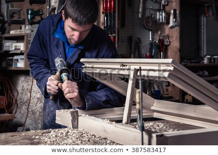 Joiner using hammer Stock photo © photography33