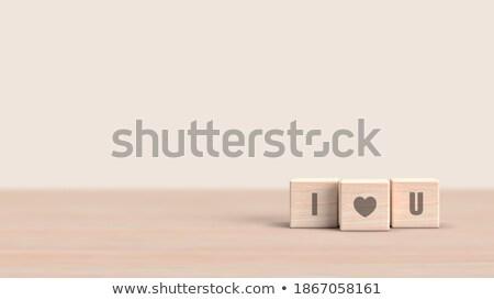 liefde · valentijnsdag · bruiloft · evenement · kaart - stockfoto © marinini
