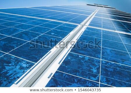 太陽 · 太陽光発電 · パネル · クローズアップ - ストックフォト © Rob300