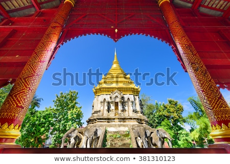 Ancient temple, Wat Chiang Man temple in Chiang Mai, Thailand.  Stock photo © cozyta