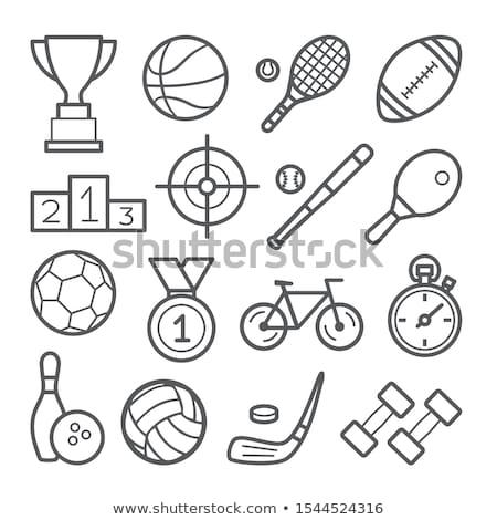 íjászat · piktogram · zöld · nyíl · játék · logo - stock fotó © seiksoon