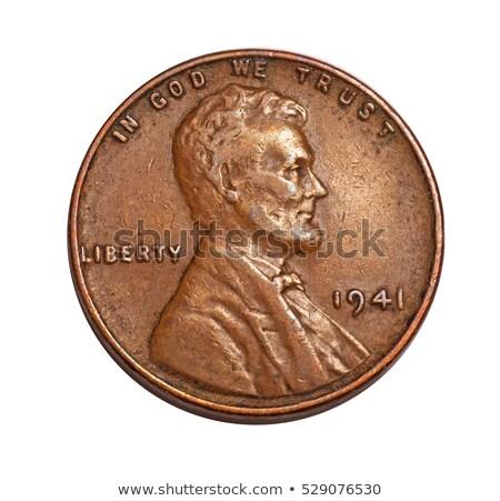 старые пенни индийской голову цент темно Сток-фото © tab62