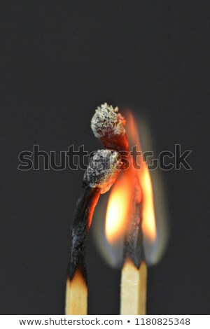 Match on fire against a black background Stock photo © wavebreak_media