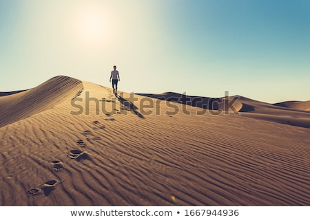 sivatag · kék · ég · nap · égbolt · természet · felhő - stock fotó © mayboro