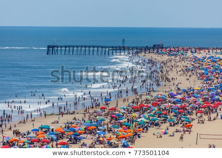 crowded beach stock photo © kovacevic