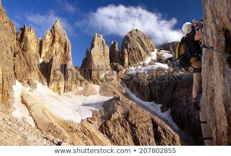 Dolomiti - hiker on via Ferrata Stock photo © Antonio-S