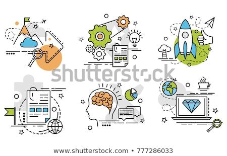 Objetivo calidad palabra color papel signo Foto stock © Ansonstock