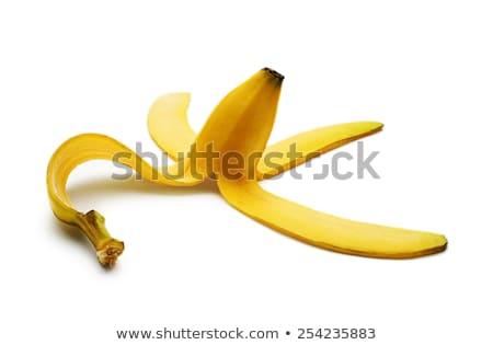 Hámozott banán friss gyümölcs izolált fehér Stock fotó © Gbuglok