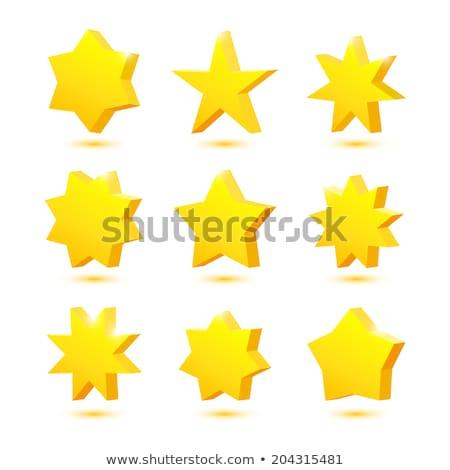 fémes · ikon · csillagok · arany · fehér · felirat - stock fotó © rioillustrator
