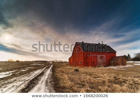 Country road and storm clouds Stock photo © Givaga