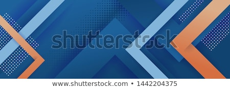 Blauw oranje lijnen abstract licht ontwerp Stockfoto © vlastas