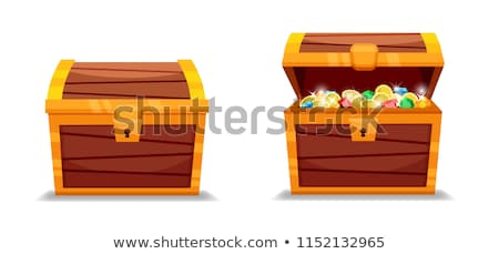Wooden treasure chest with jewelry  Stock photo © gavran333