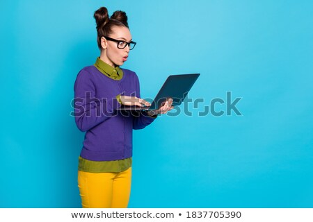 beautiful nerd woman stock photo © iko