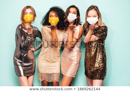 Gruppe von sexy Mädchen