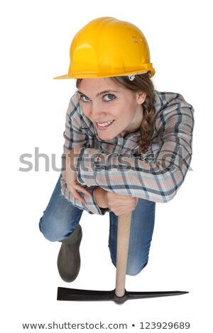 Leaning against her pickaxe Stock photo © photography33