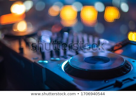 mixing console at night stock photo © toltek