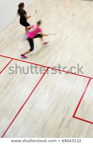 スカッシュ ラケット スポーツ ジム 女性 競争 ストックフォト © Kzenon