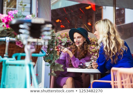 charming woman in a restaurant stock photo © hasloo