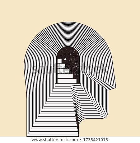 labirynt · umysł · ludzi · głowie · psychologia · symbol - zdjęcia stock © adrian_n