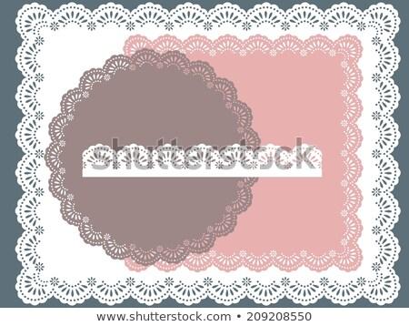 Doily square ornament Stock photo © Suljo
