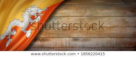 Bhutan vlag houtstructuur muur natuur frame Stockfoto © pinkblue